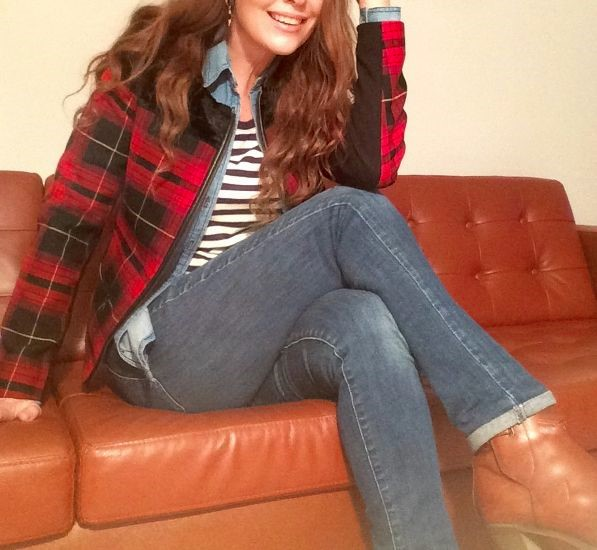 Oma versio ruutua & jeans